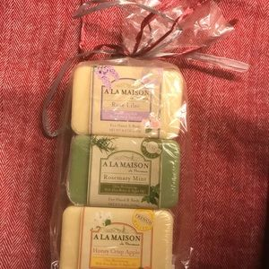 A La Maison - NWT 3 pack French milled 8 oz soap